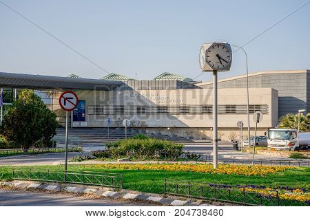 Nicosia, Cyprus, March 2017: A view of Supreme Court building in Nicosia Cyprus