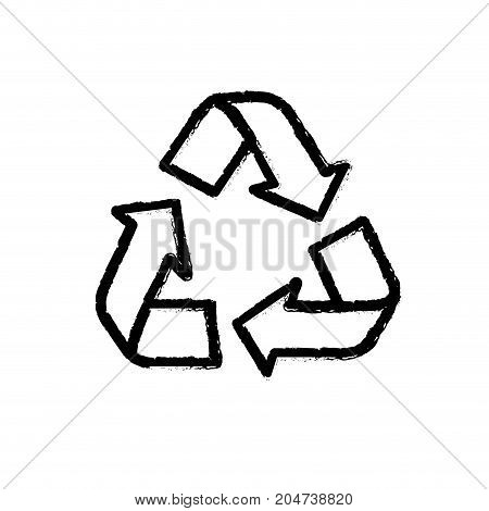 figure pretty environment symbol to recycle reduce and reuse vector illustration