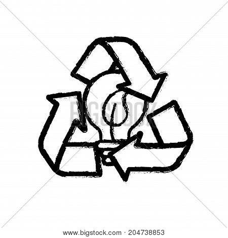 figure pretty environment symbol and bulb with leaf inside vector illustration