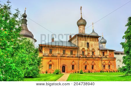 Church at Rostov Kremlin in Yaroslavl Oblast, the Golden Ring of Russia