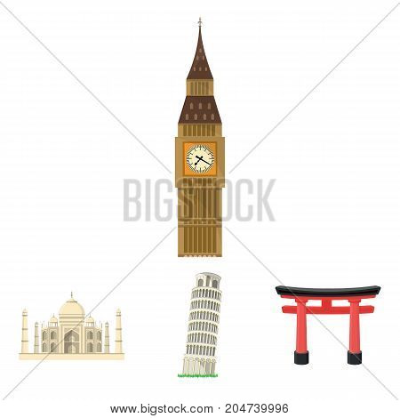 Building, interesting, place, tower .Countries country set collection icons in cartoon style vector symbol stock illustration .