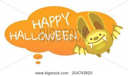 Halloween Bat Vector illustration. Halloween background with bat