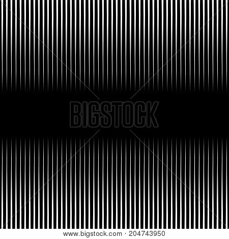 Abstract Black And White Background Of Vertical Straight Lines. Pattern Vector Background.