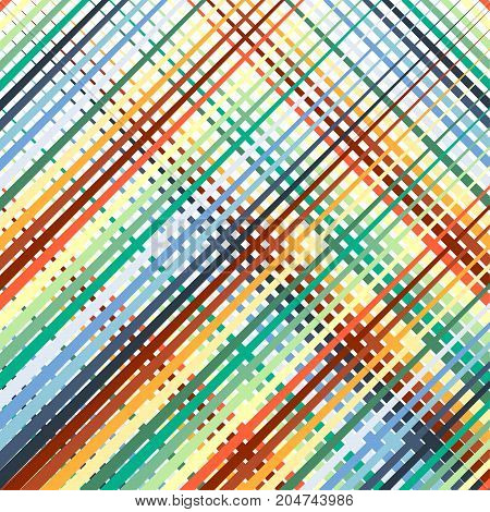 Abstract Colorful Diagonal Lines On With Background. Pattern Vector Background.