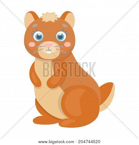 Kangaroo, single icon in cartoon style.Kangaroo, vector symbol stock illustration .