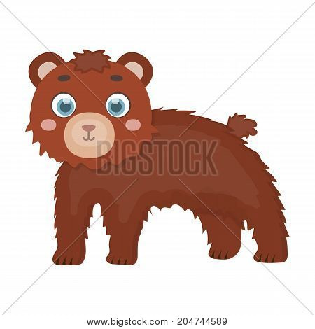 Bear, single icon in cartoon style.Bear, vector symbol stock illustration .
