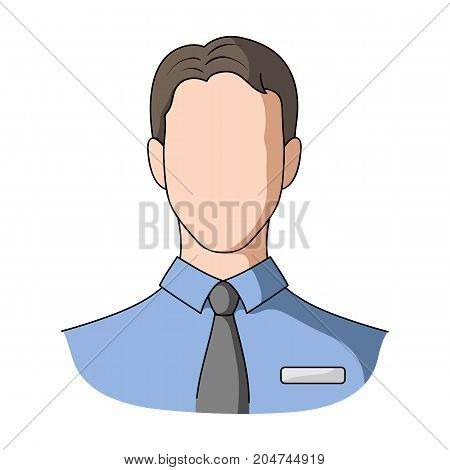 Person, single icon in outline style.Person, vector symbol stock illustration .