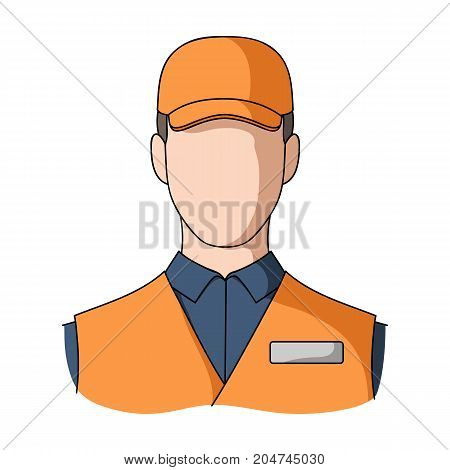 Man single icon in cartoon style.Man, vector symbol stock illustration .