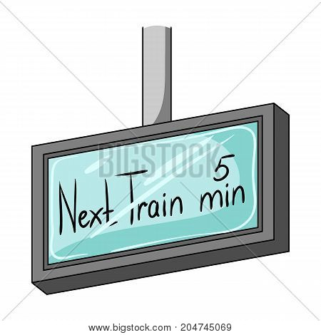 Signboard, single icon in cartoon style.Signboard, vector symbol stock illustration .