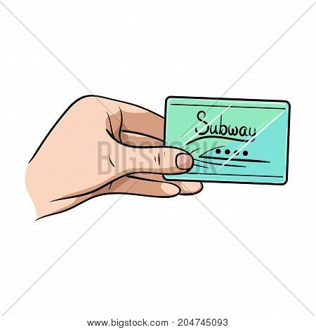 Card single icon in cartoon style.Card, vector symbol stock illustration .