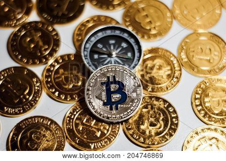 Bitcoin Coin Near Compass