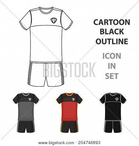 Form of the Belgian football team.The dark Belgian wolf. Belgium single icon in cartoon style vector symbol stock web illustration.