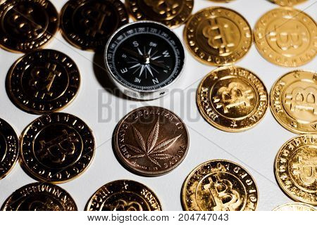 Brass Marijuana Coin