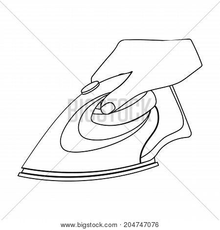 Equipment, iron for ironing sewing. Sewing and equipment single icon in outline style vector symbol stock illustration .