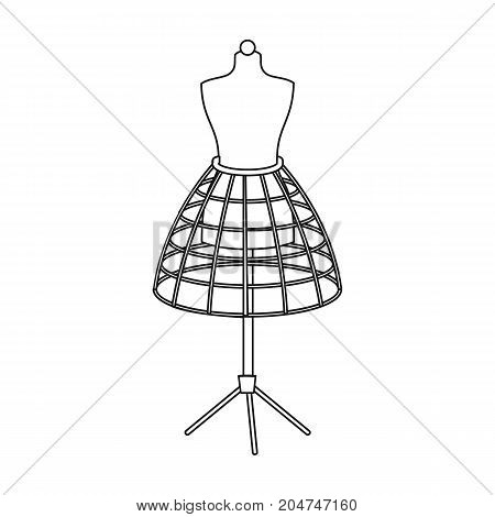 Equipment, mannequin for sewing women's clothing. Sewing and equipment single icon in outline style vector symbol stock illustration .