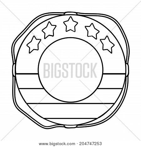 Multicolored swimming circle for relaxing. Swimming circle single icon in outline style vector symbol stock illustration .