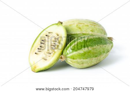 Small gourd isolated on white background,Food ingredient,Organic vegetables