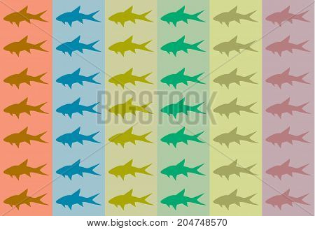 Some examples of interesting fish backgrounds, digital painting