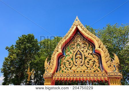 arch of temple in thailand - stock image