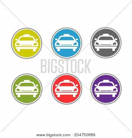 elegant and modern Taxi logo sign, transportation logo