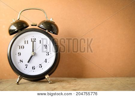 Vintage Clock On Blur Background..