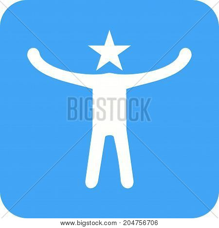 Celebrity, cheering, people icon vector image. Can also be used for Personality Traits. Suitable for web apps, mobile apps and print media.