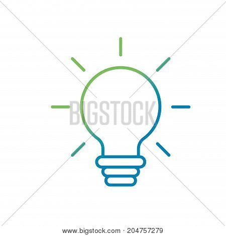 line nice bulb idea to create and invent vector illustration