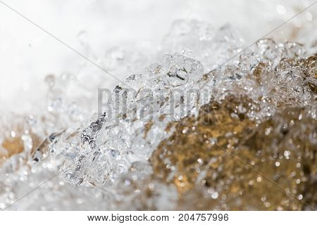 background of water in a turbulent river