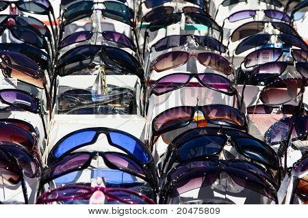 Fake Sunglasses On A Flea Market