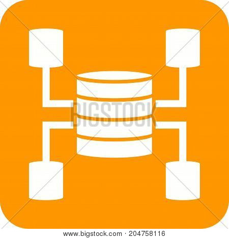 Data, warehouse, web icon vector image. Can also be used for Data Analytics. Suitable for use on web apps, mobile apps and print media.