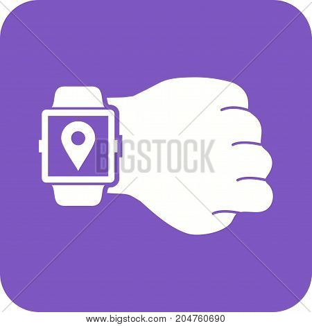 Location, gps, map icon vector image. Can also be used for Smart Watch. Suitable for mobile apps, web apps and print media.