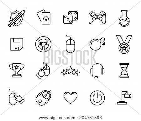 Premium set of game line icons. Simple pictograms pack. Stroke vector illustration on a white background. Modern outline style icons collection.