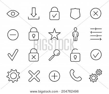 Premium set of user interface line icons. Simple pictograms pack. Stroke vector illustration on a white background. Modern outline style icons collection.