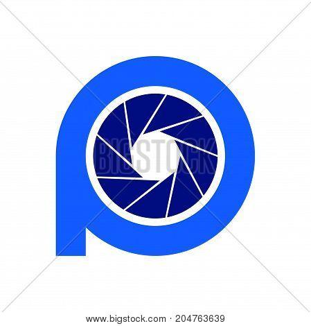 p photography logo design, circle photography logo design