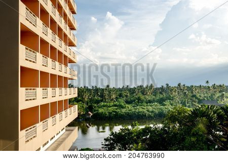 The Green Of Hotel View In Thailand