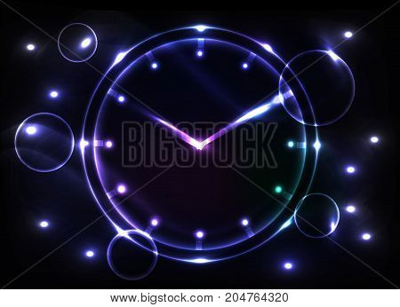 abstract clock background - conceptual vector.illusstration watch.
