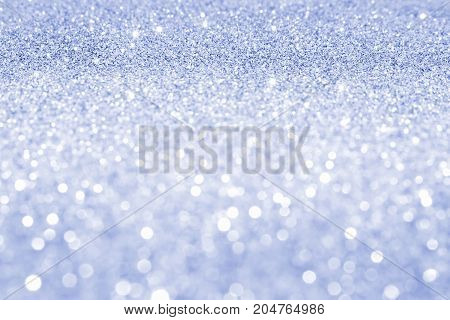 beautiful sequin blue with bokeh and lens flare