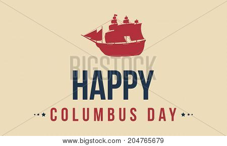 Happy Columbus Day background design vector art