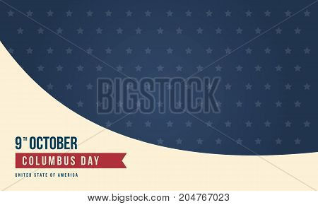 Columbus day design background collection vector art