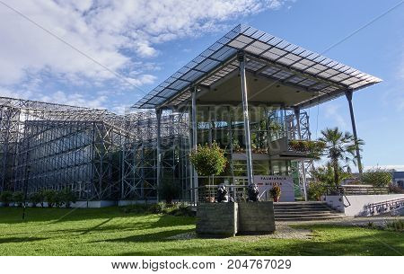 Gliwice, Poland - September 14, 2017: Palm House In Chopin Park