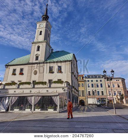 Gliwice, Poland - September 14, 2017: Town Hall On 14 September