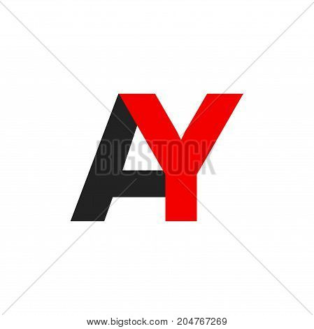 ay letter initial logo design, letter logo design