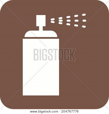 Spray, paint, design icon vector image. Can also be used for Hand Tools. Suitable for use on web apps, mobile apps and print media.