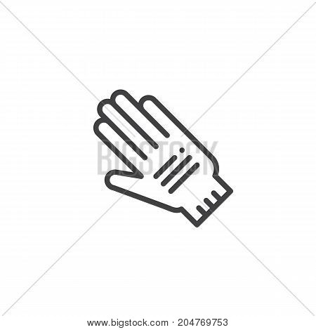 Protective Gloves line icon, outline vector sign, linear style pictogram isolated on white. Safety Symbol, logo illustration. Editable stroke