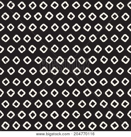 Seamless pattern with hand drawn lines. Abstract background with freehand brush strokes. Black and white grunge texture. Ornament for wrapping paper.