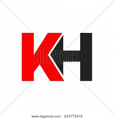 kh initial logo design, letter initial logo design