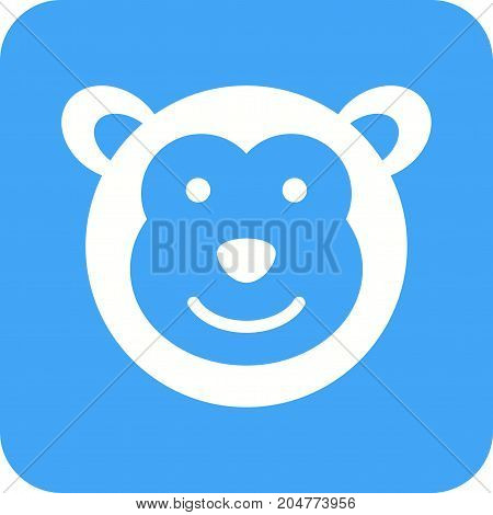 Monkey, animals, chimpanzee icon vector image. Can also be used for Animal Faces. Suitable for mobile apps, web apps and print media.