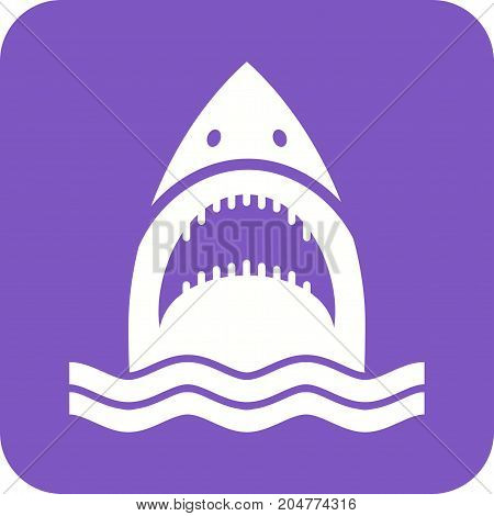 Shark, fish, whale icon vector image. Can also be used for Animals Faces. Suitable for mobile apps, web apps and print media.