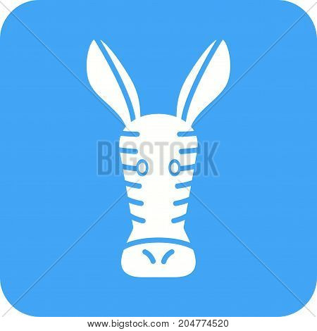 Zebra, animals, wild icon vector image. Can also be used for Animal Faces. Suitable for mobile apps, web apps and print media.