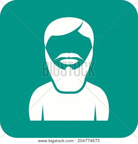 Beard, long, man icon vector image. Can also be used for Avatars. Suitable for mobile apps, web apps and print media.